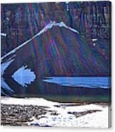 Moraine Lake Lens Flare Canvas Print