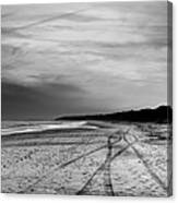 More Beach Tracks Canvas Print
