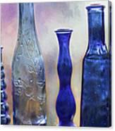 More Cobalt Blue Bottles Canvas Print