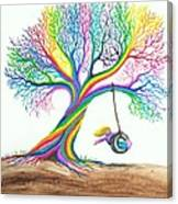 More Rainbow Tree Dreams Canvas Print