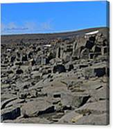 More Rock And Lava At Dettifoss Canvas Print