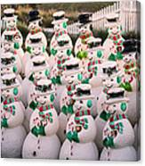 More Snowmen Canvas Print