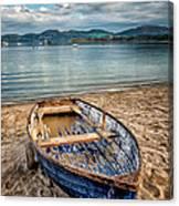 Morfa Nefyn Boat Canvas Print