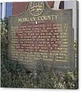 Morgan County Canvas Print