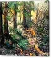 Moring Hike Canvas Print