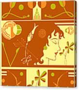 Morioka Montage In Sixties Sunshine Canvas Print
