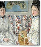 Morisot's The Sisters Canvas Print