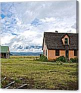 Mormon Row Historic District In Grand Tetons National Park-wyoming Canvas Print