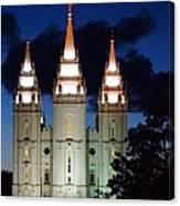 Mormon Temple Lds Utah Canvas Print