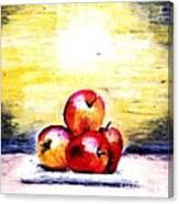 Morning Apples Canvas Print