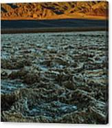 Morning At Badwater Canvas Print