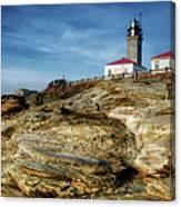 Morning At Beavertail Lighthouse Canvas Print
