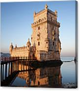 Morning At Belem Tower In Lisbon Canvas Print