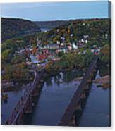 Morning At Harpers Ferry Canvas Print