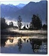 Morning At Lake Matheson Canvas Print