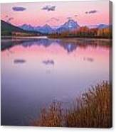 Morning At Oxbow Bend Canvas Print