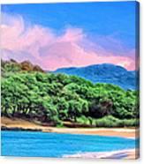 Morning At Papohaku Beach  Canvas Print
