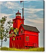 Morning At The Big Red Lighthouse Canvas Print