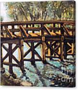 Morning At The Old North Bridge Canvas Print