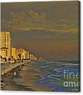 Morning Beach Walk Canvas Print