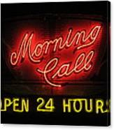 Morning Call Neon - New Orleans La Canvas Print
