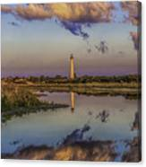 Morning Clouds At Cape May Light Canvas Print
