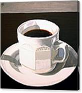 Morning Coffee At Lou's Cafe Canvas Print
