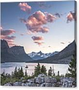 Morning Colors On The Lake Canvas Print