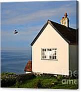 Morning Cottage At Lyme Regis Canvas Print