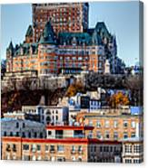 Morning Dawns Over The Chateau Frontenac Canvas Print