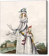 Morning Dresses, Fig. 63 & Fig. 64 Canvas Print