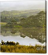 Morning Haze On Lough Bofin Canvas Print