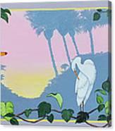 Morning Heron Canvas Print