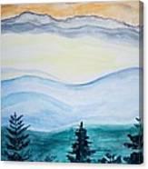 Morning Hills Canvas Print