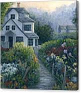 Morning In A Maine Garden Canvas Print