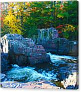 Morning In Eau Claire Dells Canvas Print