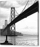 Morning In San Francisco Bw Canvas Print