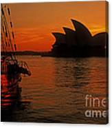 Morning In Sydney Harbour Canvas Print