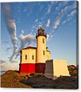 Morning Light At Coquille River Lighthouse Canvas Print