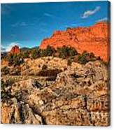 Morning Light At Garden Of The Gods Canvas Print