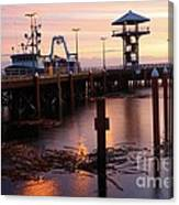 Morning Light At Port Angeles Canvas Print