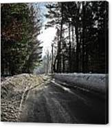 Morning Light On The Road Canvas Print