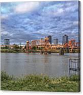 Morning Light Upon Downtown Little Rock - Arkansas - Skyline Canvas Print