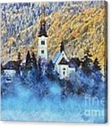 Morning Mist On The Island Canvas Print