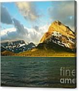 Morning Mountains At Many Glacier Canvas Print