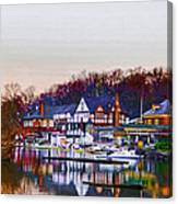 Morning On Boathouse Row Canvas Print