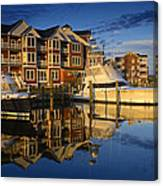 Morning On The Docks Canvas Print