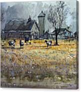Morning On The Farm Canvas Print