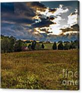 Morning On The Farm Three Canvas Print