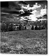 Morning On The Farm Two Bw Canvas Print